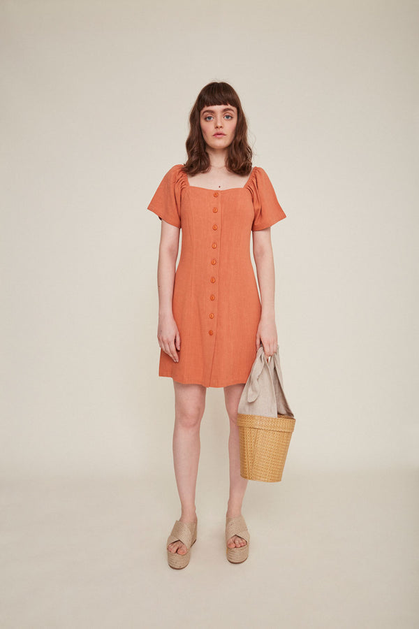 Sabina Dress - Clay - Dandelion Post