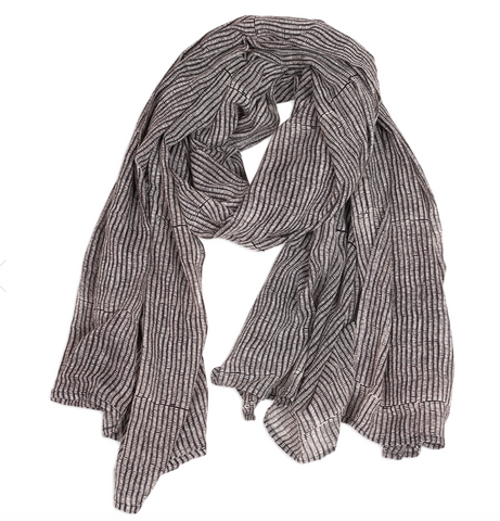 Alice Midnight Stripes Scarf - Dandelion Post
