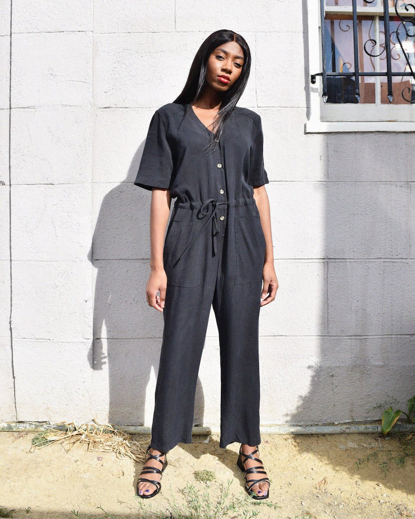 Black Remy Jumpsuit - Dandelion Post