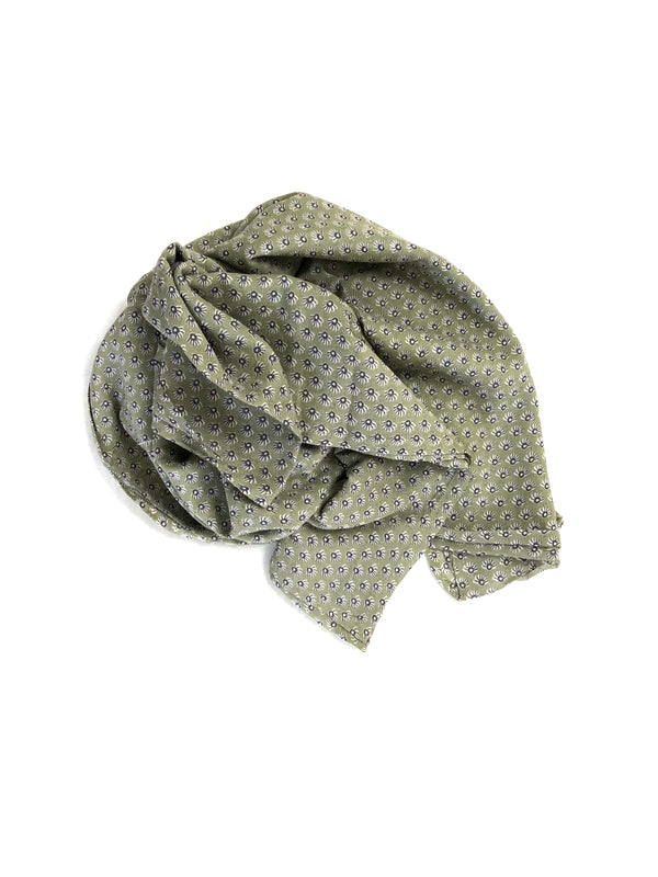 Graymarket designs olive sunburst pattern cotton scarf