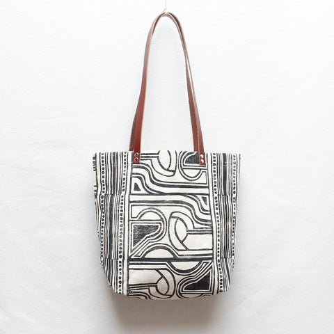 Nouveau Block Print Tote Bag - Dandelion Post
