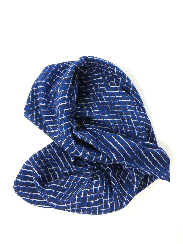 graymarket designs kona navy and black triangle block printed scarf