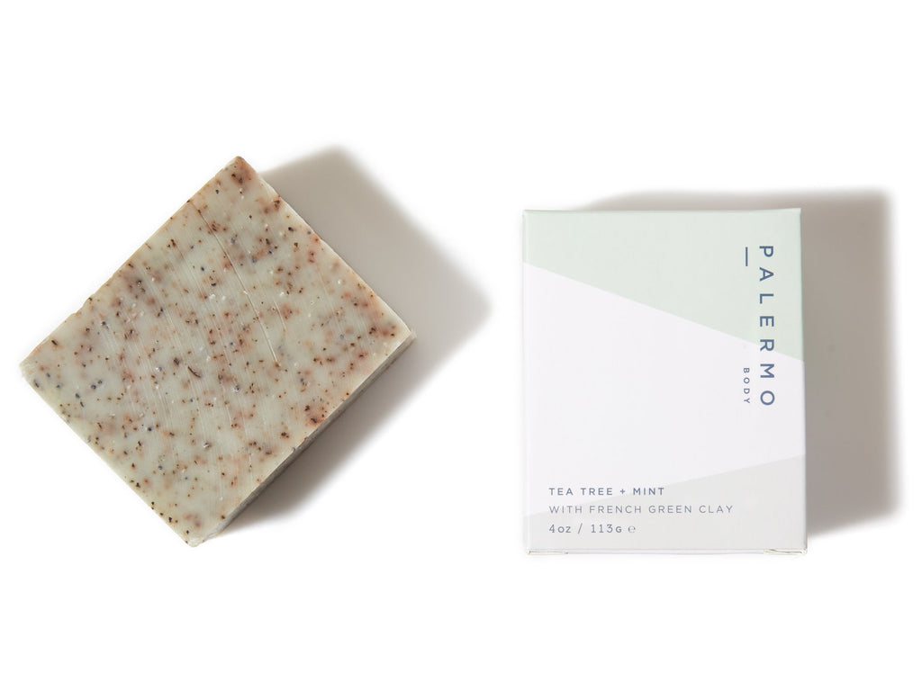 clarifying and refreshing tea tree and mint soap bar