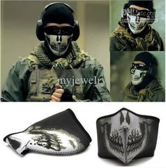 New Call Of Duty Cod Mw2 Ghost Skull Mask Biker Balaclava Face