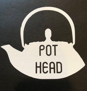 Pot Head Permanent Vinyl Decal