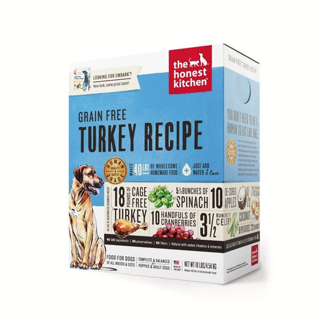 The Honest Kitchen - Dehydrated Grain Free Turkey Recipe (Embark)