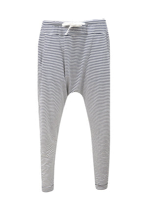 Stripe Drop Pants White