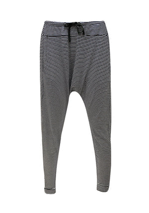 Stripe Drop Pants Black