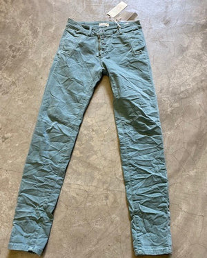 Italian Star Button Jean Aqua