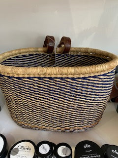 Bicycle Basket - Elephant Grass