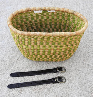 Bicycle Basket - Attachment Leather Belts