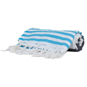 Turkish Towel Blue & Black - Thin
