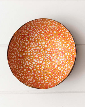 Decor Bowl - Textured Interior - Red
