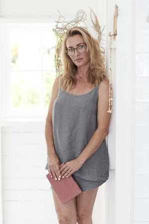 Eadie Lounge Series The Camisole - Slate - M/L