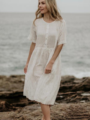 Charlie Dress - Off White - SM