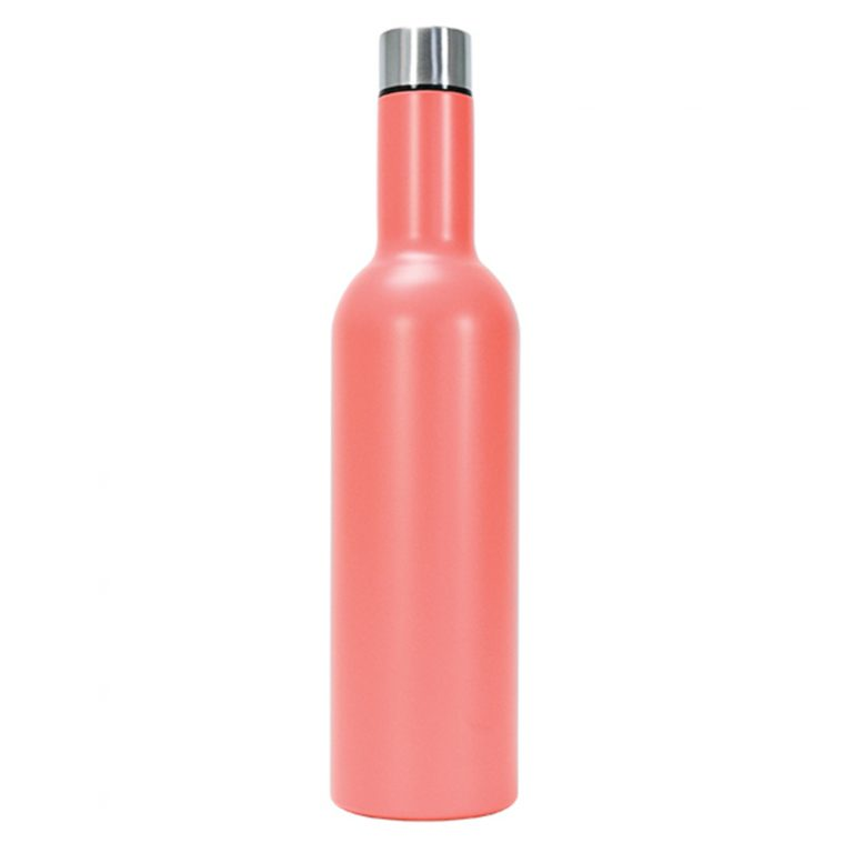 Insulated Wine Bottle Coral