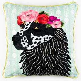 Ruby Star Hound with Garland Cushion