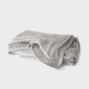 Abrazo Throw - Silver Grey
