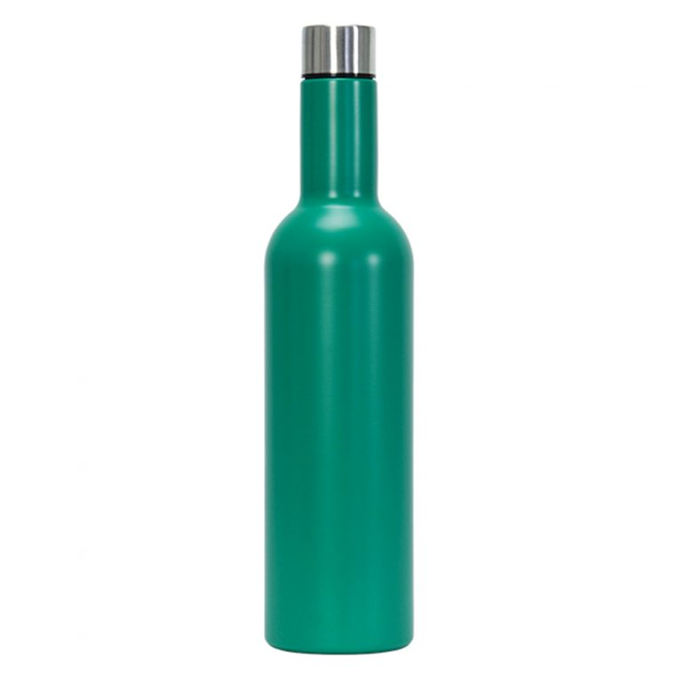 Insulated Wine Bottle Emerald