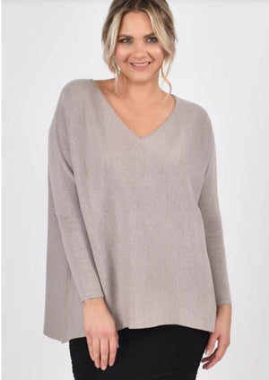 Everyday Knit Top in Winter Sand