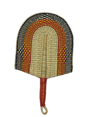 Fans - Elephant grass and leather handle