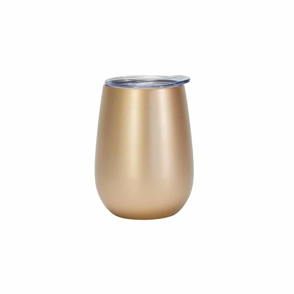 Insulated Wine Tumbler Gold