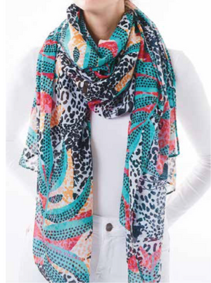 Oversized Scarf - Hidden Leopard
