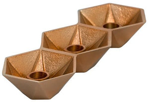 Honeycomb Candle Holder Copper
