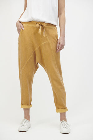 Low Slung Stretch Pant Mustard OS