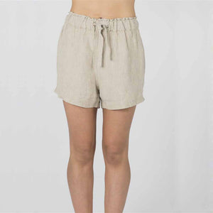 The Short 100% Linen - Natural