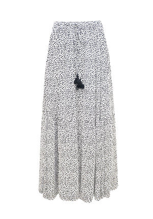 Label of Love -White Cheetah Skirt