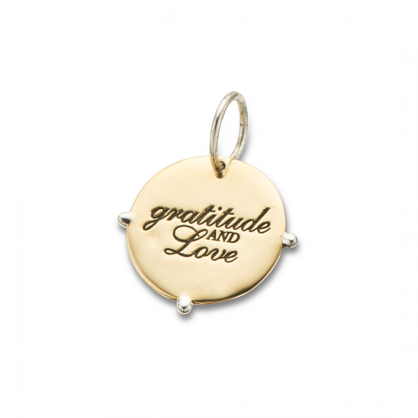 Silver & Brass Gratitude and Love Charm