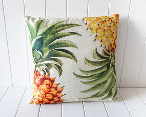 Indoor Cushion - Pineapple Pair - Feather Filled