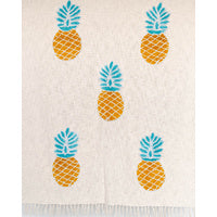 Throw Blanket - Pineapple - Multi/Natural - 130 x 160