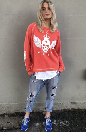 Skull Sweat Washed Red