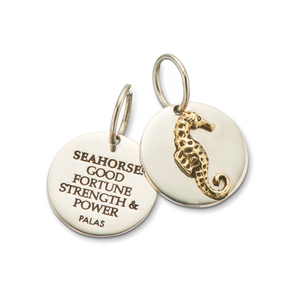 Silver & Brass Seahorse Charm