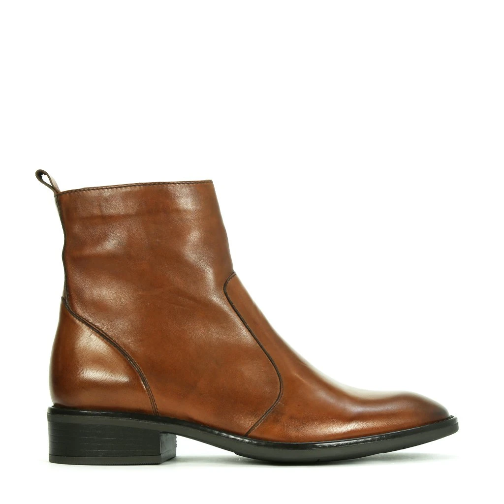 EOS Seline Leather Boot - Brandy