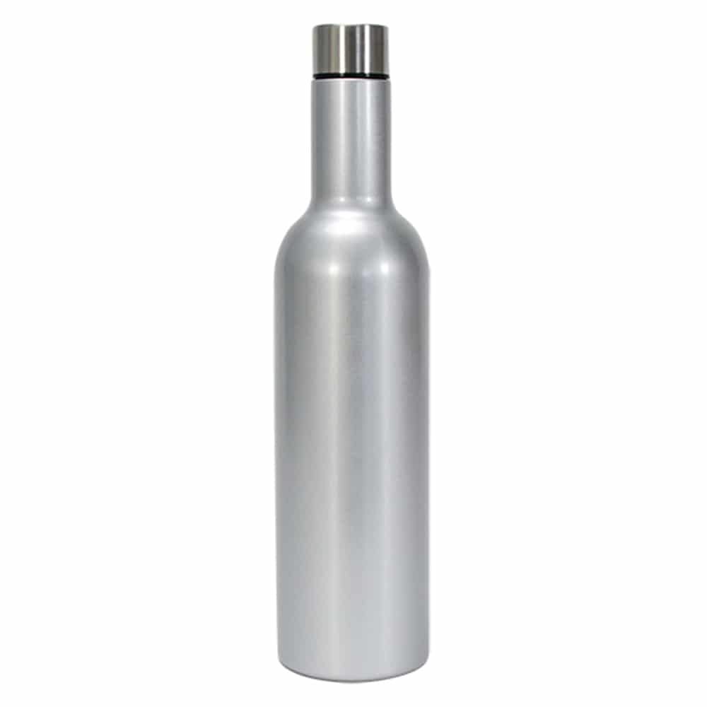 Insulated Wine Bottle Silver