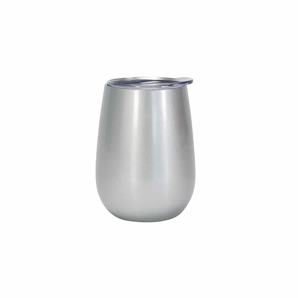 Insulated Wine Tumbler Silver