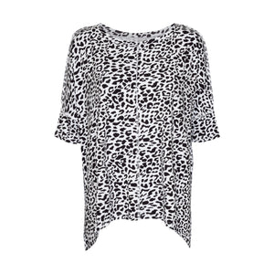 Stella Slouch Tee - Black Leopard - OS