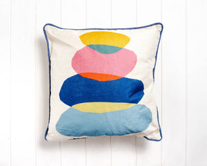 Rachel Lee - Stone Stack Cushion - 45 x 45 - Feather insert