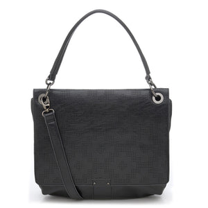 Tapestry Perforated Large Satchel Black