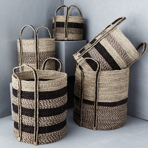 Textured Striped Basket - M