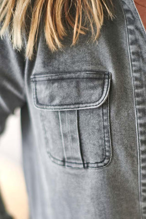 The Loft Trench Coat Grey Denim