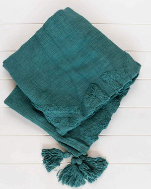 Throw Blanket - Jaipur Green