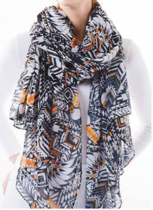Oversized Scarf - Toucan Feathers