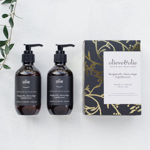 O & O Wash & Cream Twin Set - Bergamot, Clary Sage & Geranium