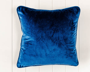 Navy Velvet Cushion - 45 x 45 - Feather Insert