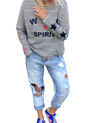 Hammill + Co - Stripe Wild Spirit L/S