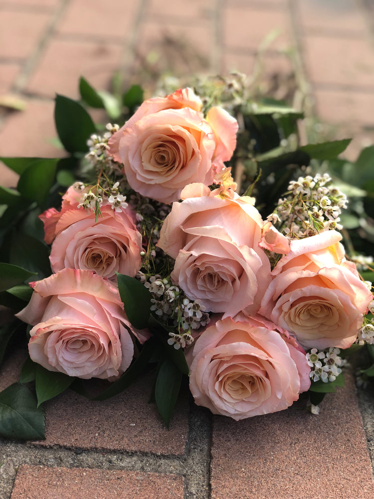 The Classic Pink Rose Dozen